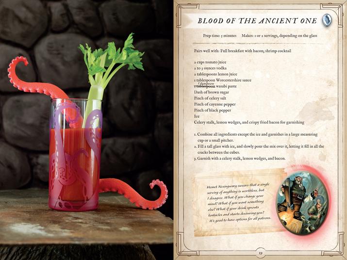 '하스스톤' 요리책에 실린 칵테일 '블러드 오브 더 에인션트 원' (사진출처: 게임스팟)