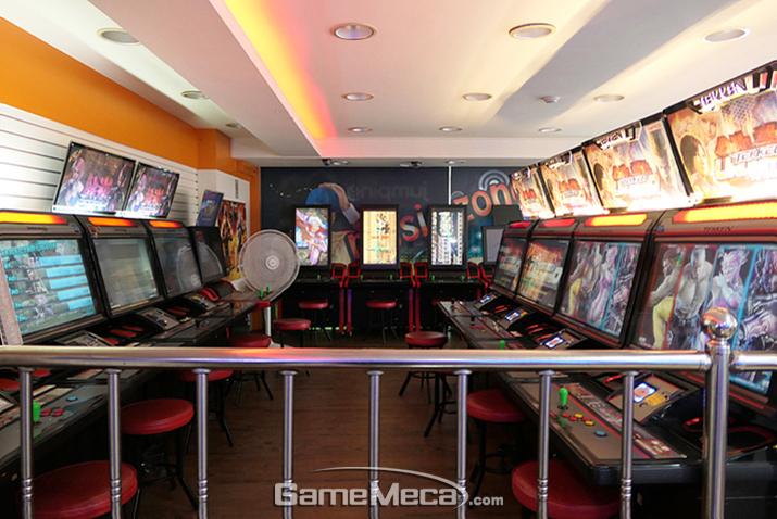 (사진07) '철권'과 비행슈팅 게임, 모든 스틱형 게임이 이 곳에