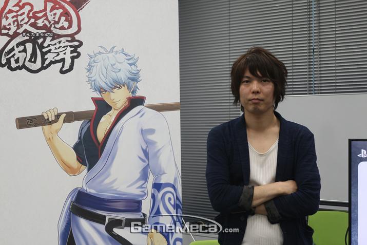 '은혼 난무' 개발을 맡은 츠즈키 카츠아키 프로듀서 (사진출처: 게임메카)