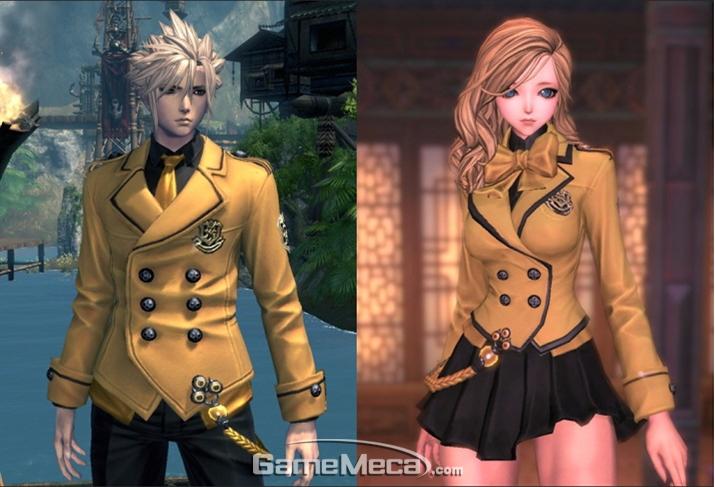 황금색 예고스타일 교복을 테마로 한 '순정'