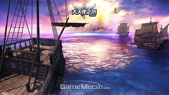 HTML5로 개발된 웹 MMORPG '대천사지검H5' (사진제공: 웹젠)