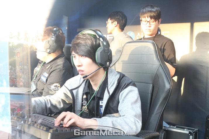 GC 부산 레드와 멋진 경기를 펼친 대만 '펭간디' (사진: 게임메카 촬영)
