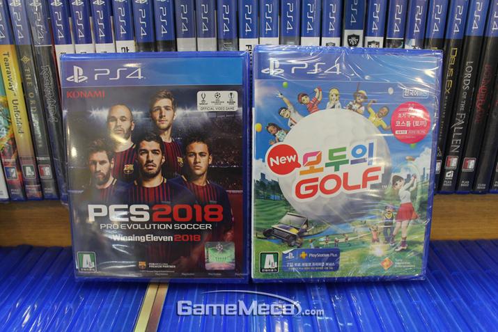 스포츠게임 흥행은 'PES 2018'과 '뉴 모두의 골프'가 이끌었다 (사진출처: 게임메카 촬영)