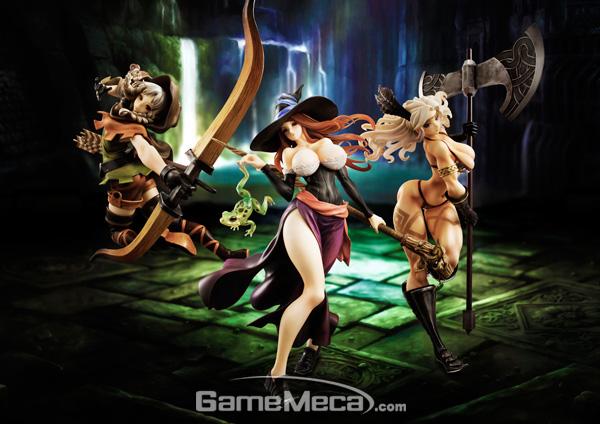메가하우스에서 제작한 '드래곤즈 크라운' 피규어를 한데 모으면 소장가치 100% (사진출처: 메가하우스 공식홈페이지)