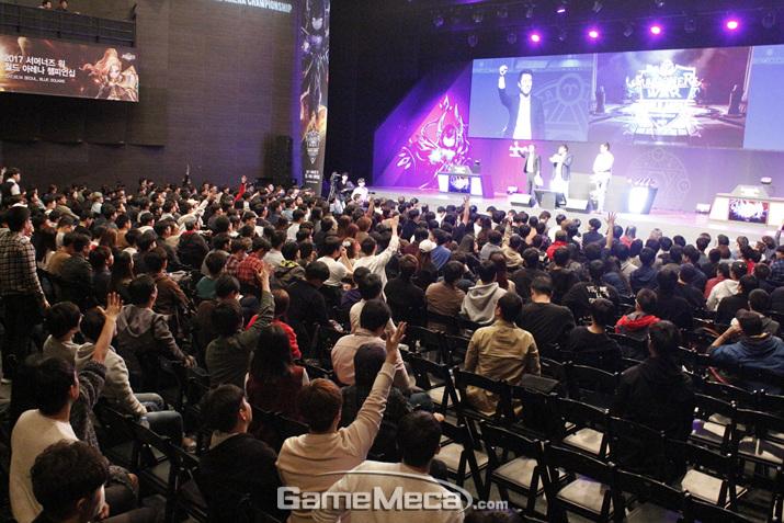 '서너머즈 워' 월드챔피언십 한국 대표 선발전 현장 (사진: 게임메카 촬영)