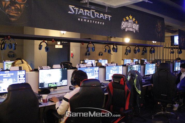 'WEGL 스타크래프트: 리마스터 슈퍼 파이트' 예선 현장 (사진출처: 게임메카 촬영)