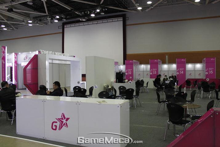 업체와 업체를 연결시켜 주는 비즈니스 매칭 시스템은 호응을 받았다 (사진: 게임메카 촬영)