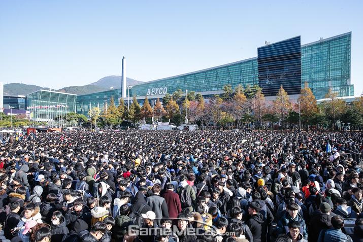 작년 11월 부산에서 열린 '지스타 2017' (사진제공: 지스타 조직위원회)