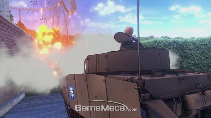 걸즈 앤 판처 드림 탱크 매치 스크린샷 (사진제공: BNEK)