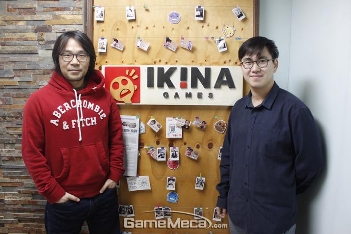 인터뷰에 응한 이키나게임즈 김창선 AD와 하태일 이사 (사진: 게임메카 촬영)
