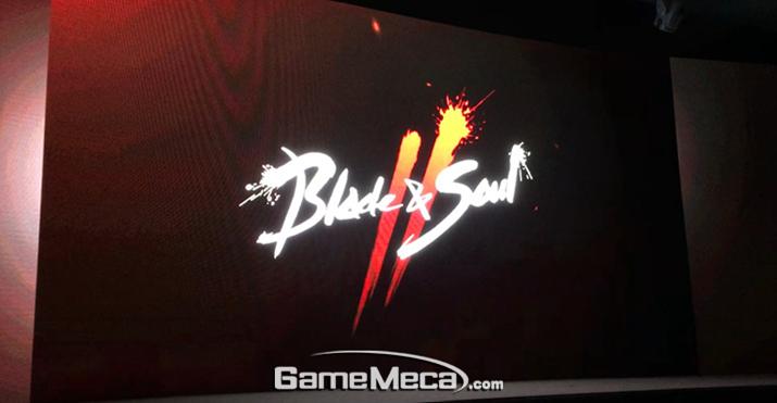 현재까지는 로고 정도만 공개된 '블소2' (사진: 게임메카 촬영)