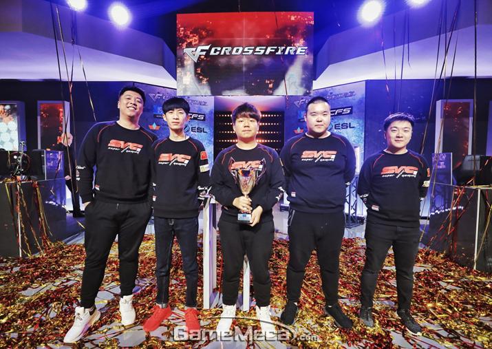 크로스파이어 IEM 인비테이셔널 2018 최종 우승팀 SV (사진제공: 스마일게이트)