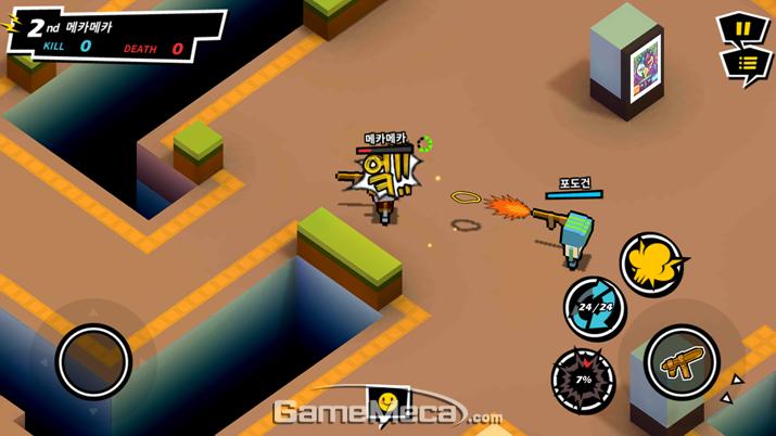 질릴 새 없이 다양한 무기들이 언락되는 재미 (사진: 게임메카 촬영)