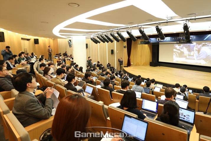 15일 판교에서 열린 엔씨소프트 AI 미디어 토크 현장 (사진제공: 엔씨소프트)