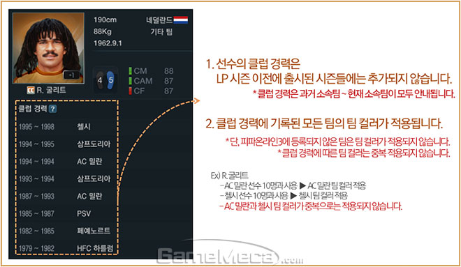 피파온라인3 31일 업데이트 CC시즌 클럽 정보